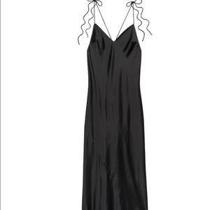 Brand new Satin slip dress in black